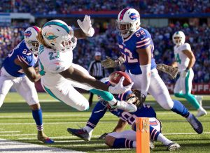 Dolphins RB Jay Ajayi has rushed for at least 200 yards in Miami's last two games