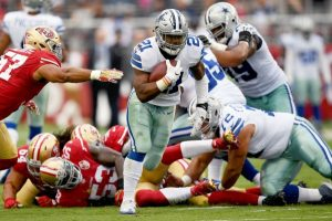 NFL leading rusher Ezekiel Elliott